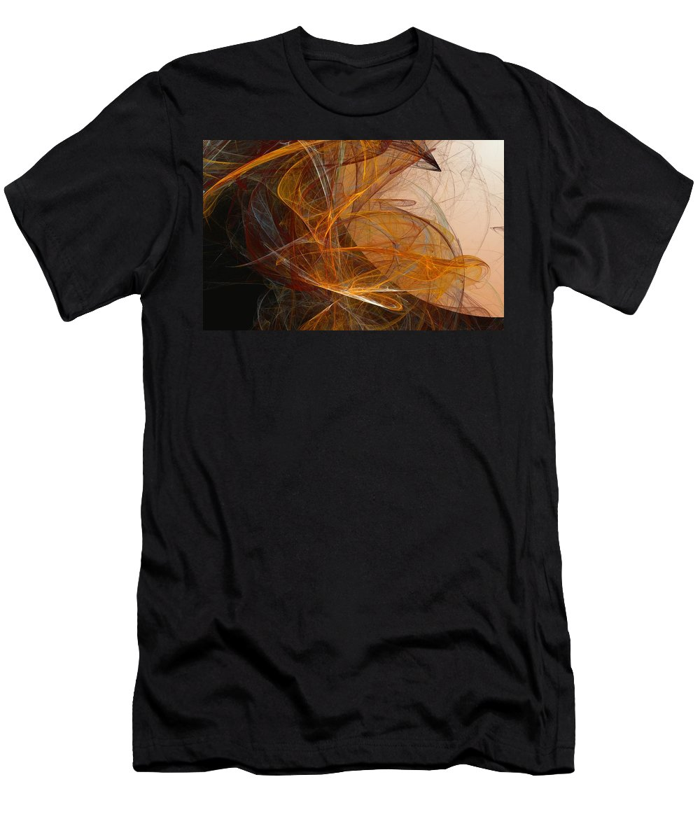 Abstract Expressionism Men's T-Shirt (Athletic Fit) featuring the digital art Harvest Moon by David Lane