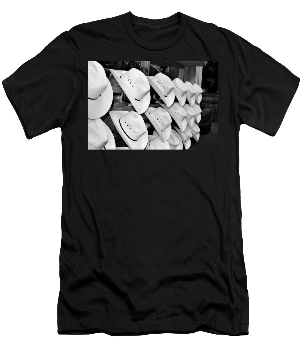 Hat Men's T-Shirt (Athletic Fit) featuring the photograph Hat And Boot Store Nashville Tn by Joseph Mari