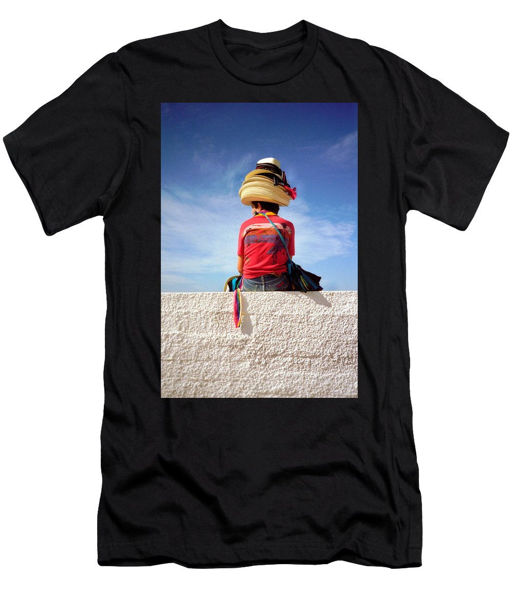 Art Men's T-Shirt (Athletic Fit) featuring the photograph Hats by Frank DiMarco