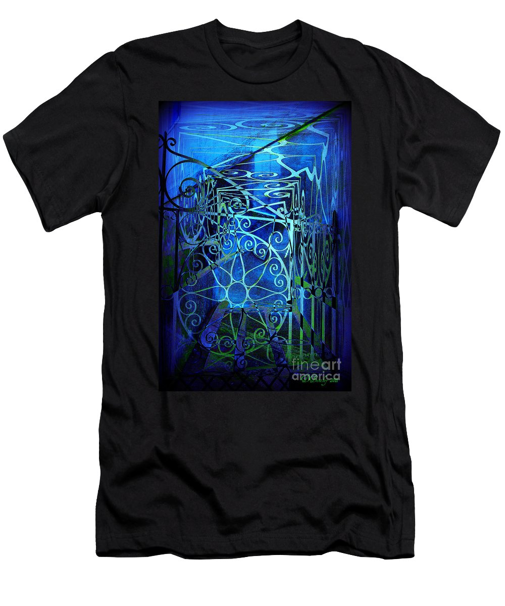 Gates Men's T-Shirt (Athletic Fit) featuring the photograph Hauntings Of Charleston by Donna Bentley