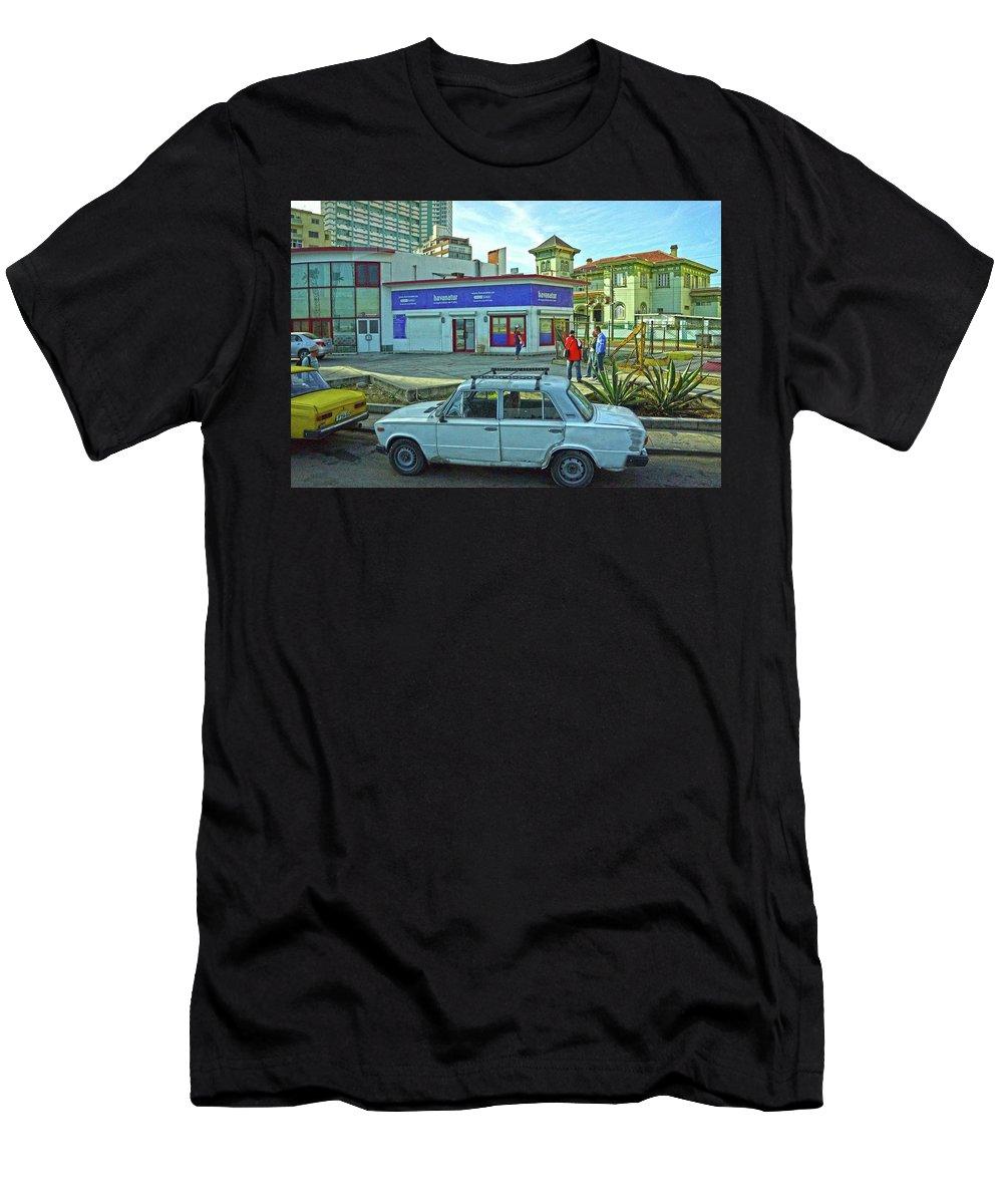 Havana Men's T-Shirt (Athletic Fit) featuring the photograph Havana-37 by Rezzan Erguvan-Onal