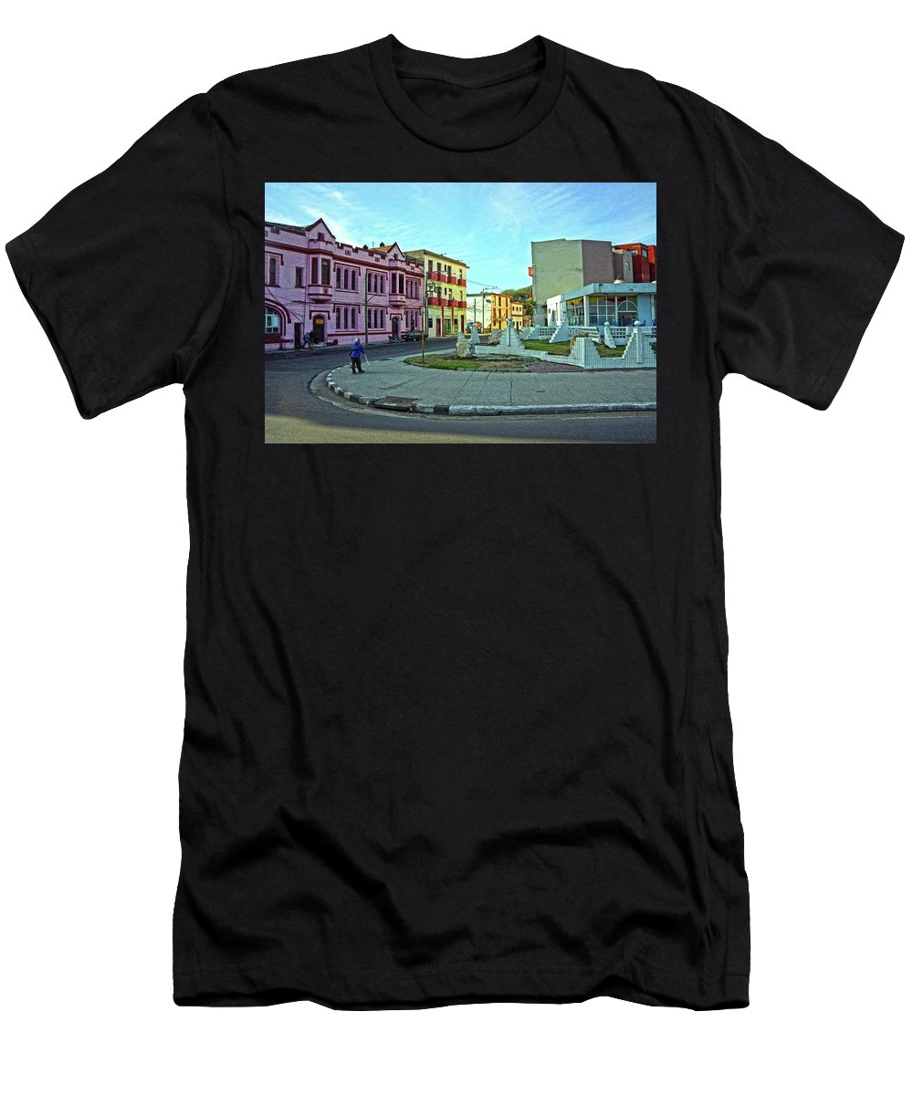 Havana Men's T-Shirt (Athletic Fit) featuring the photograph Havana-51 by Rezzan Erguvan-Onal