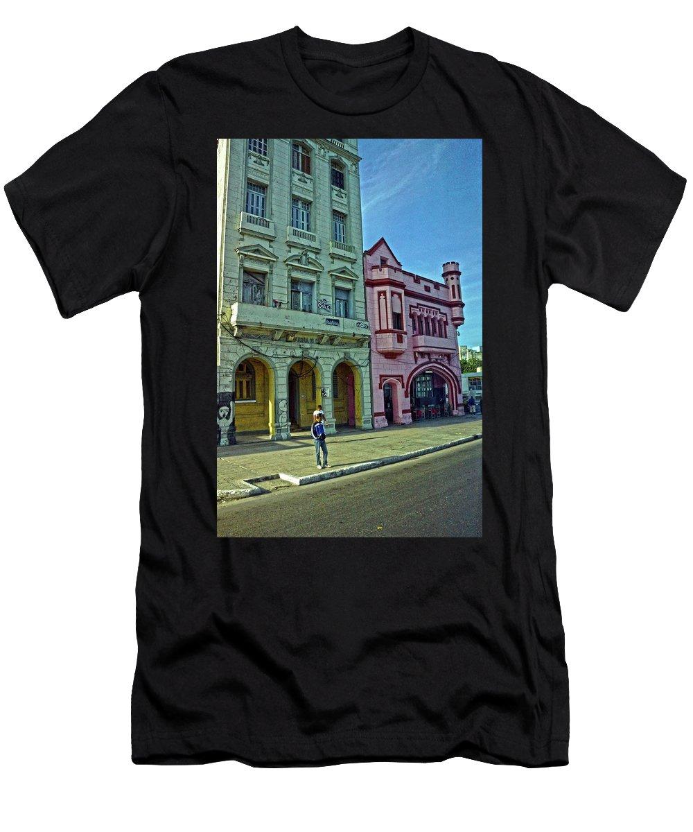 Havana Men's T-Shirt (Athletic Fit) featuring the photograph Havana-53 by Rezzan Erguvan-Onal