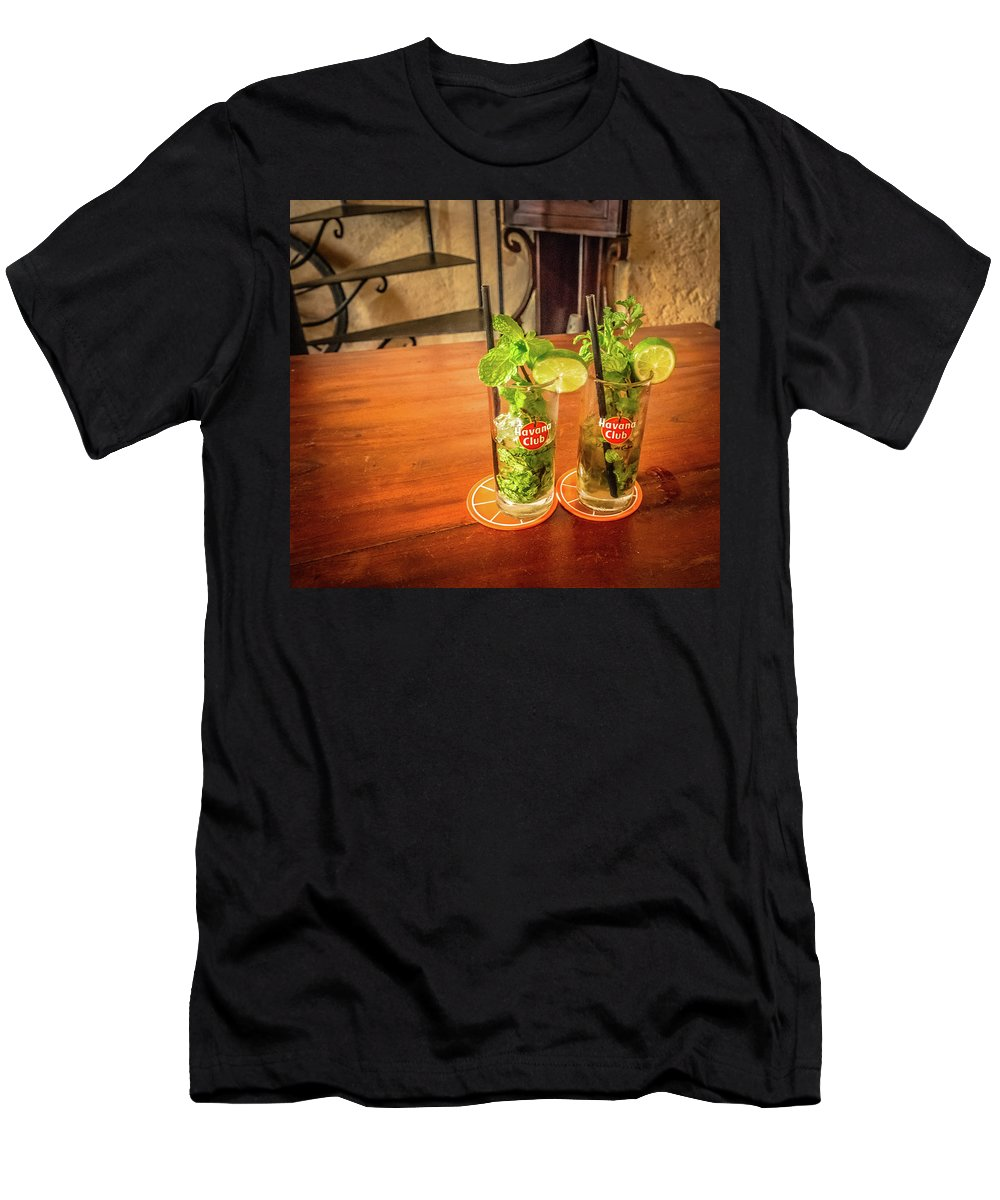 Havana Men's T-Shirt (Athletic Fit) featuring the photograph Havana Club Mojitos by Bill Howard