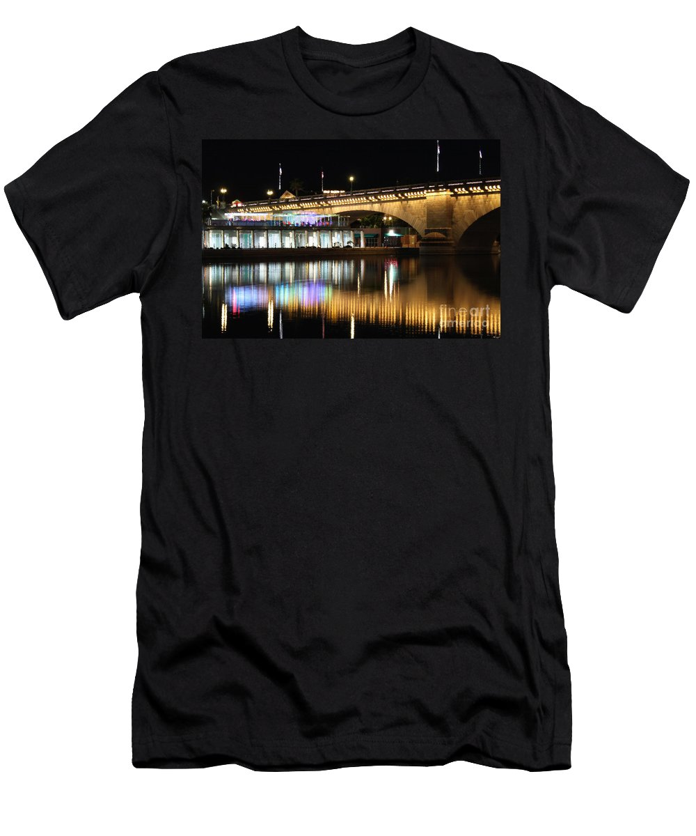 Arches Men's T-Shirt (Athletic Fit) featuring the photograph Havasu Nights by James Eddy