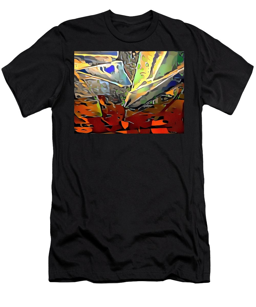 Men's T-Shirt (Athletic Fit) featuring the mixed media Haver by Zachary Mueller
