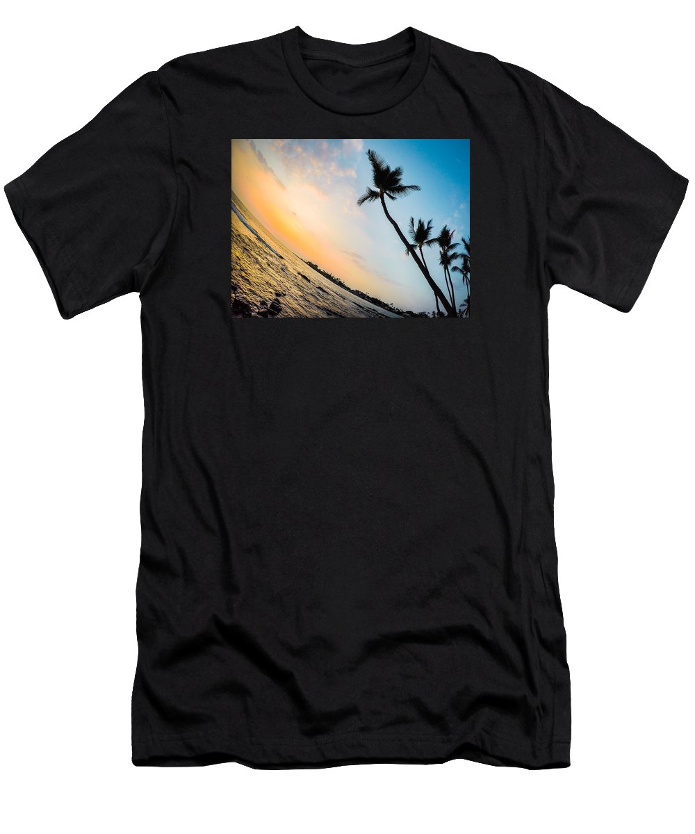Landscape Men's T-Shirt (Athletic Fit) featuring the photograph Hawaii Sunset by Christina Callanan-Attebery
