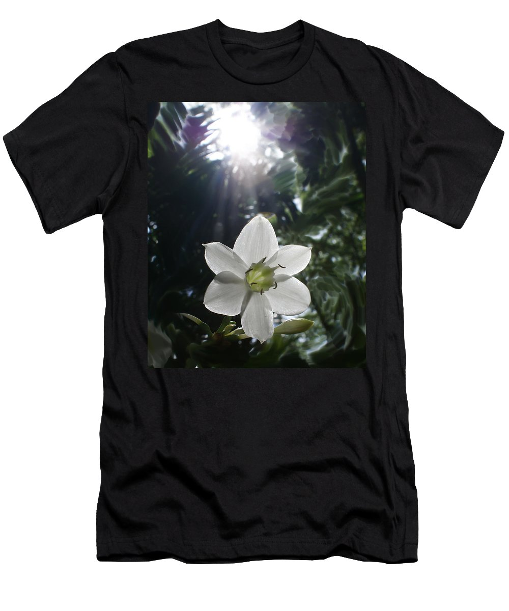 Hawaiian Men's T-Shirt (Athletic Fit) featuring the photograph Hawaiian Flower by Heather Coen