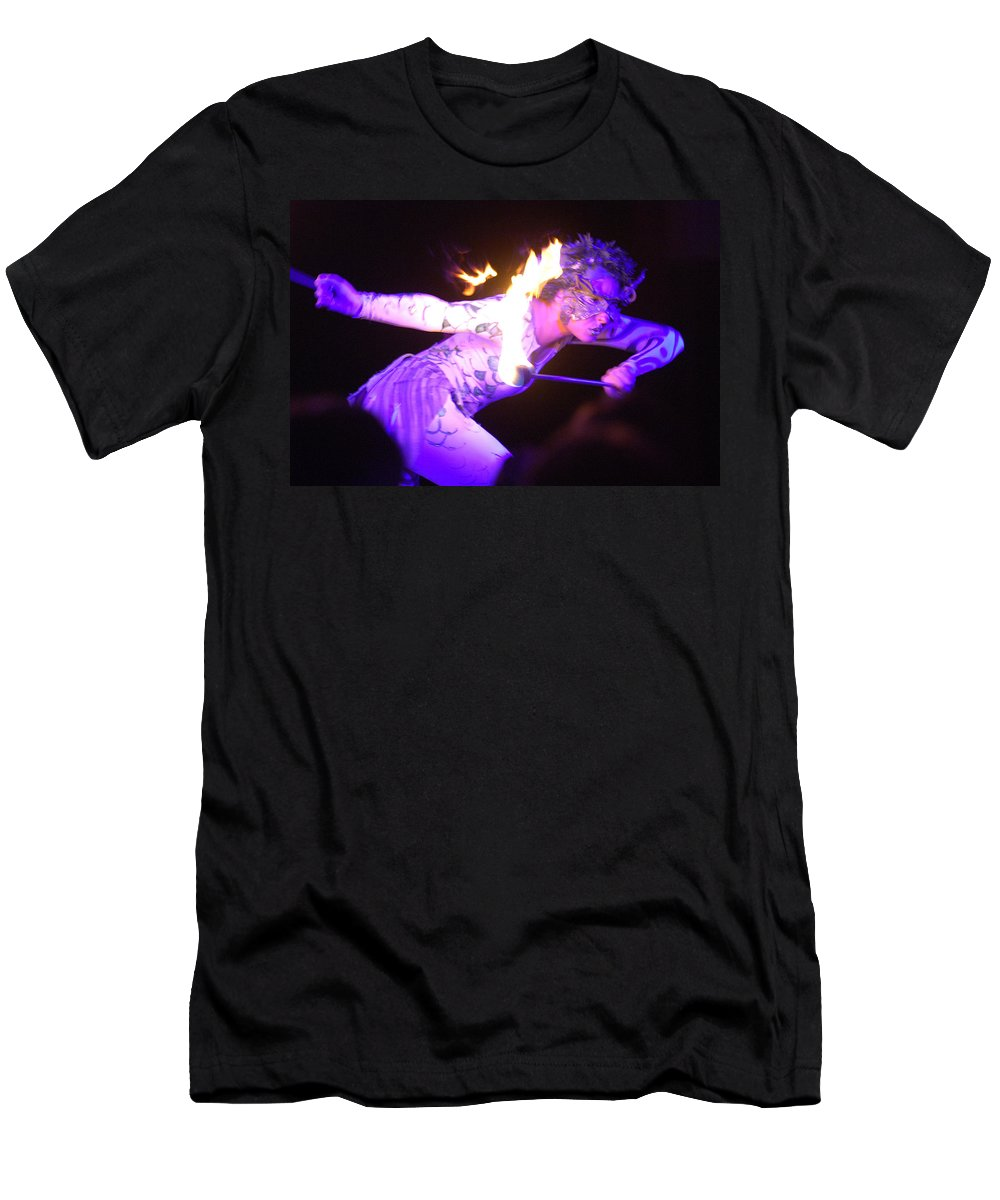 Hawaii Men's T-Shirt (Athletic Fit) featuring the photograph Hawaiian Luau Fire Eater 2 by Jill Reger