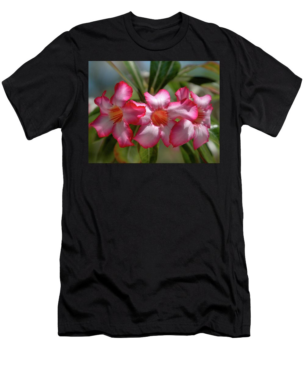 Pink Men's T-Shirt (Athletic Fit) featuring the photograph Hawaiian Flowers by Alynne Landers