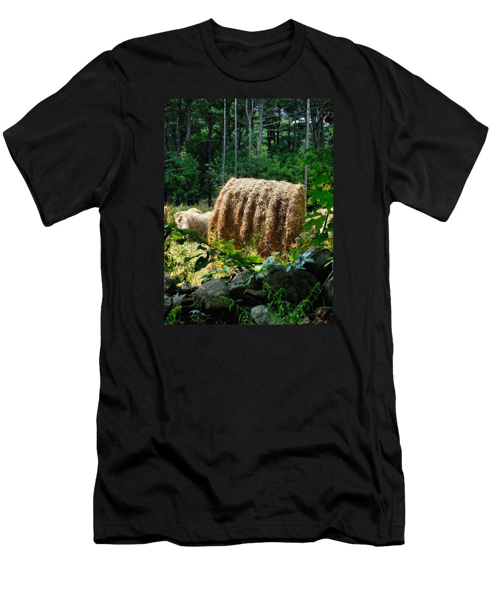 Hay Bay Rolls Men's T-Shirt (Athletic Fit) featuring the painting Hay Bay Rolls 2 by Jeelan Clark