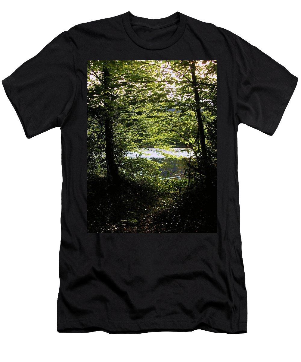 Landscape Men's T-Shirt (Athletic Fit) featuring the photograph Hazelwood Co. Sligo Ireland. by Louise Macarthur Art and Photography