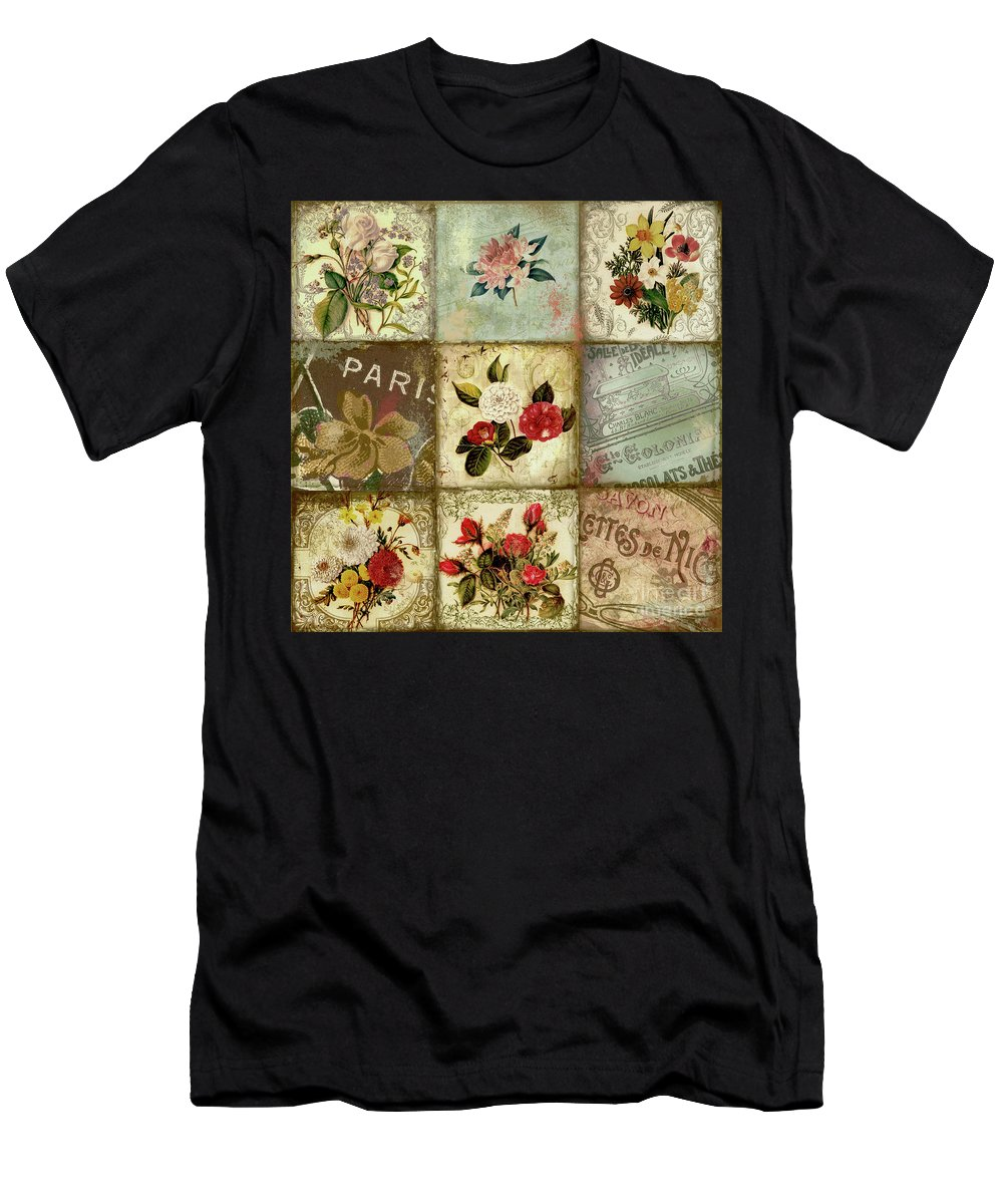 Flowers Men's T-Shirt (Athletic Fit) featuring the painting He Gave Me Flowers I by Mindy Sommers