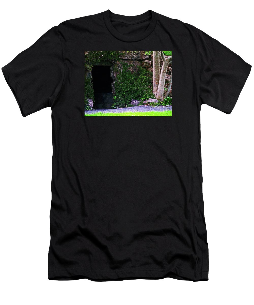 Fine Art Photography Men's T-Shirt (Athletic Fit) featuring the photograph He Has Risen by Patricia Griffin Brett