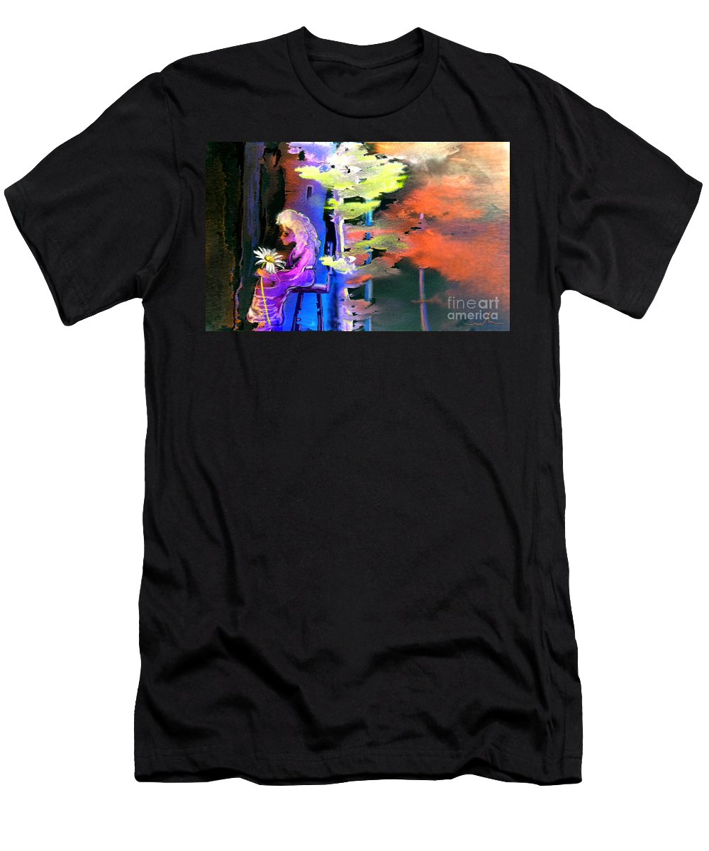Dream Men's T-Shirt (Athletic Fit) featuring the painting He Loves Me He Loves Me Not by Miki De Goodaboom