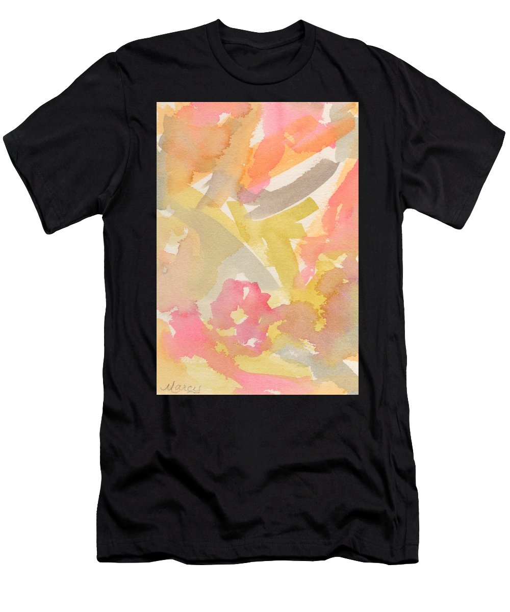 Watercolor Men's T-Shirt (Athletic Fit) featuring the painting Head In The Clouds by Marcy Brennan