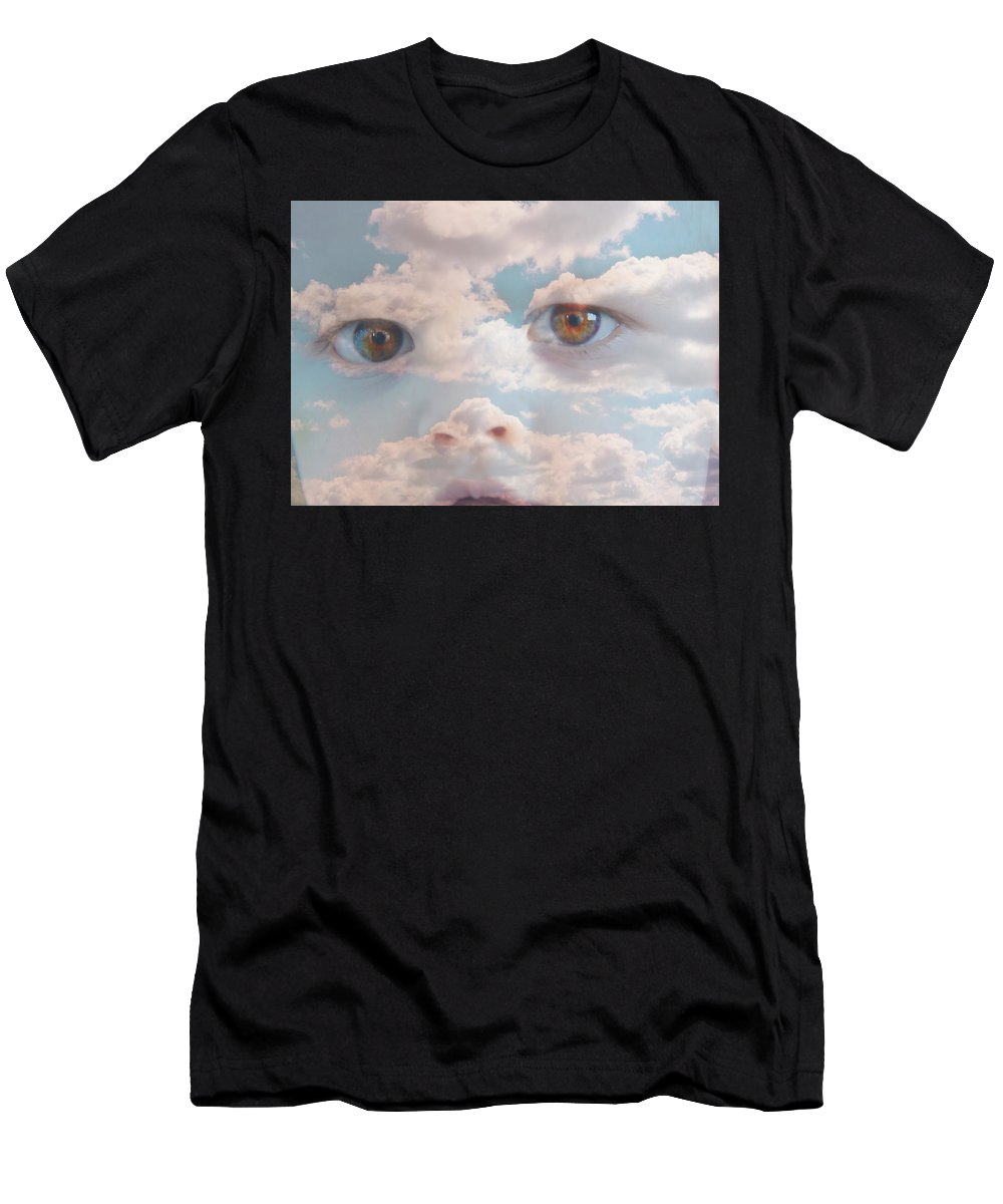 Portrait Men's T-Shirt (Athletic Fit) featuring the photograph Head In The Clouds Part 2 by Alex Vass