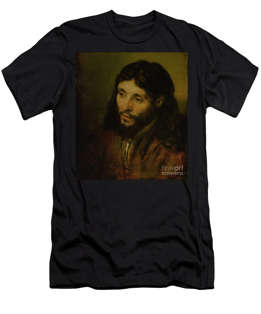 T-Shirt featuring the painting Head Of Christ by Rembrandt