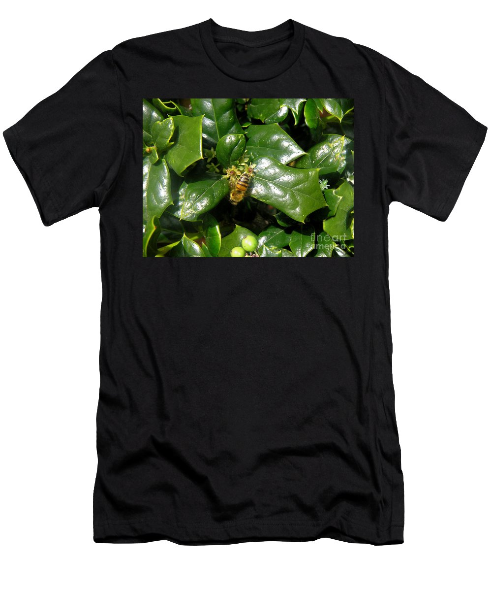Nature Men's T-Shirt (Athletic Fit) featuring the photograph Head Over Heels In The Holly by Lucyna A M Green