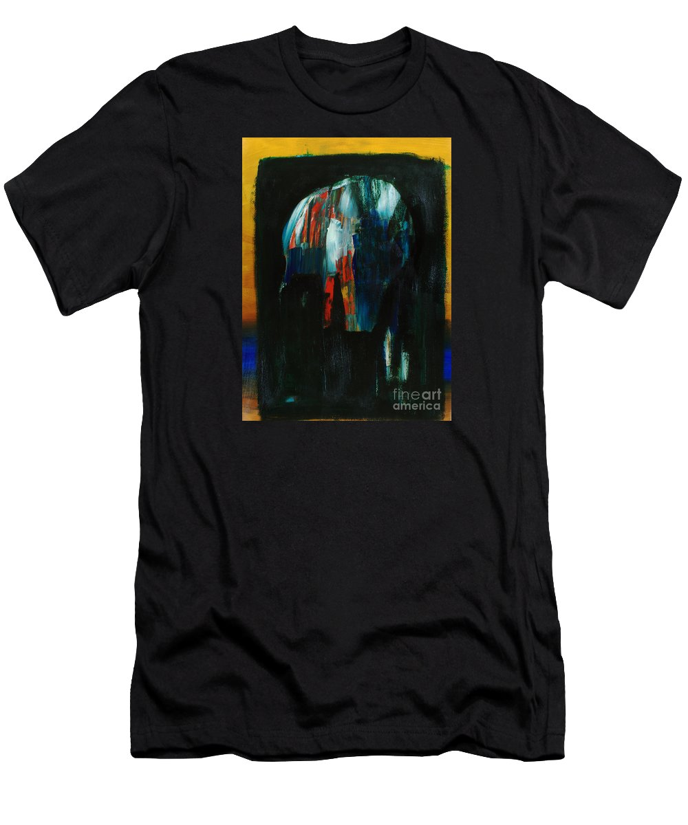 Abstract Art Men's T-Shirt (Athletic Fit) featuring the painting Headspace by Uwe Hoche