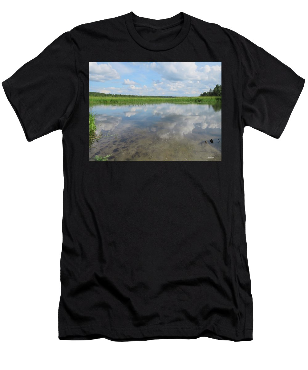 Mississippi River Men's T-Shirt (Athletic Fit) featuring the photograph Headwaters Of The Mississippi by Alison Gimpel