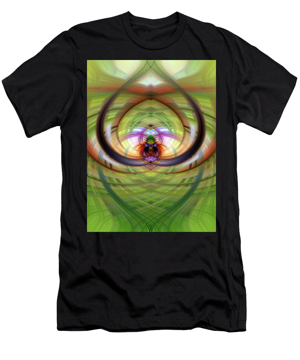 Heart Men's T-Shirt (Athletic Fit) featuring the photograph Heart 13 - Yin by Dawn Eshelman