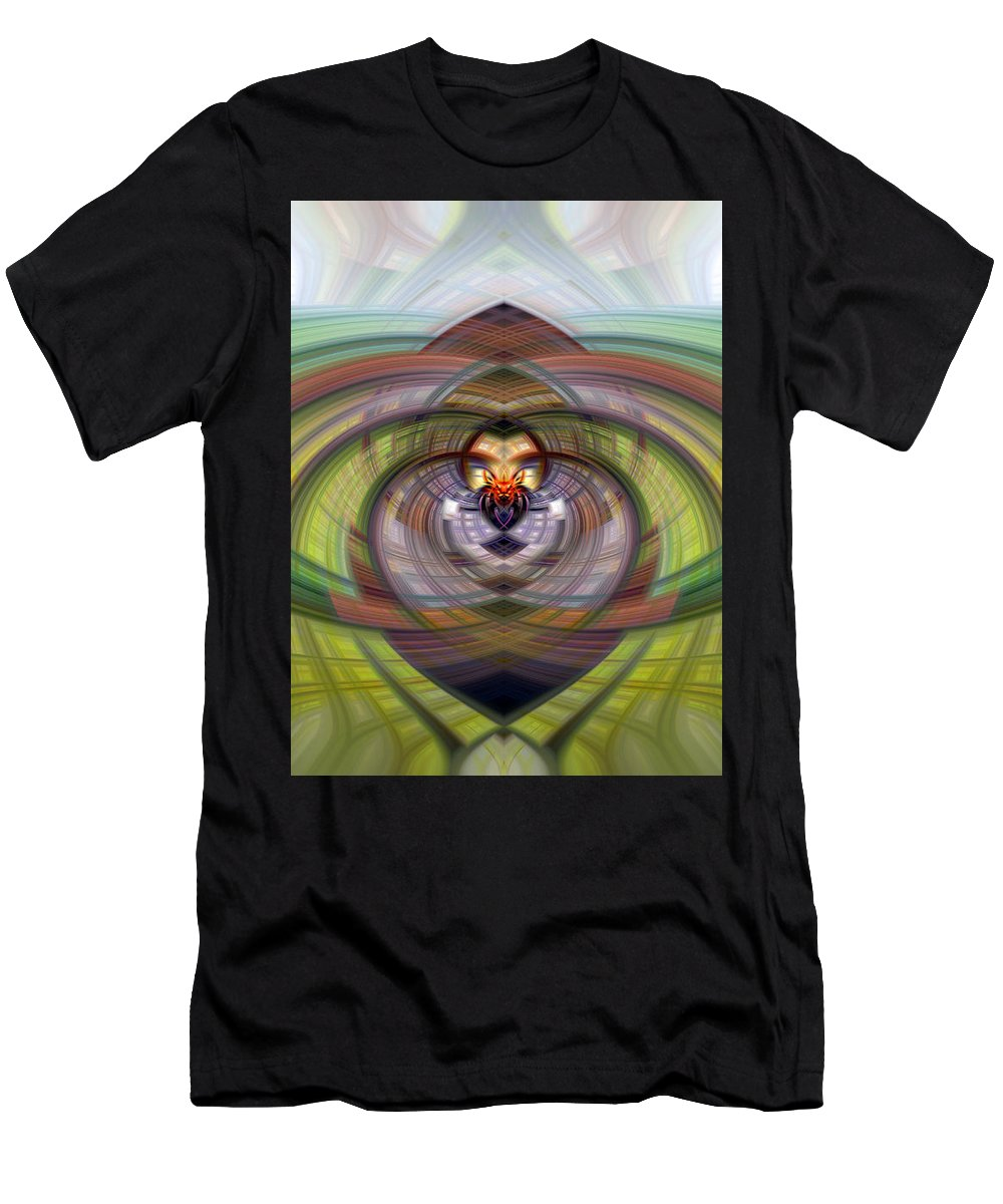Heart Men's T-Shirt (Athletic Fit) featuring the photograph Heart 20 - Yin by Dawn Eshelman