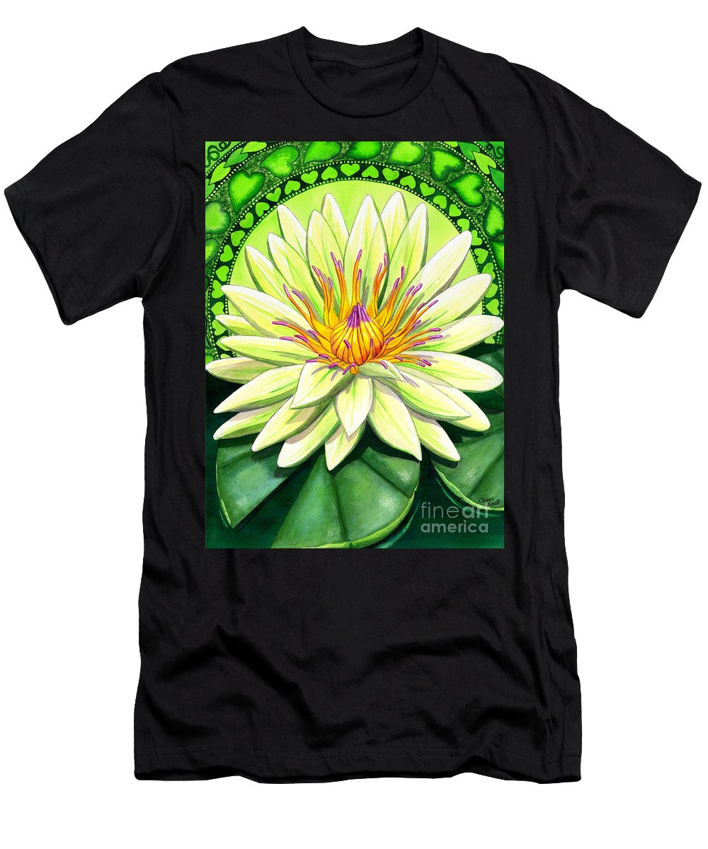 Heart Men's T-Shirt (Athletic Fit) featuring the painting Heart Chakra by Catherine G McElroy