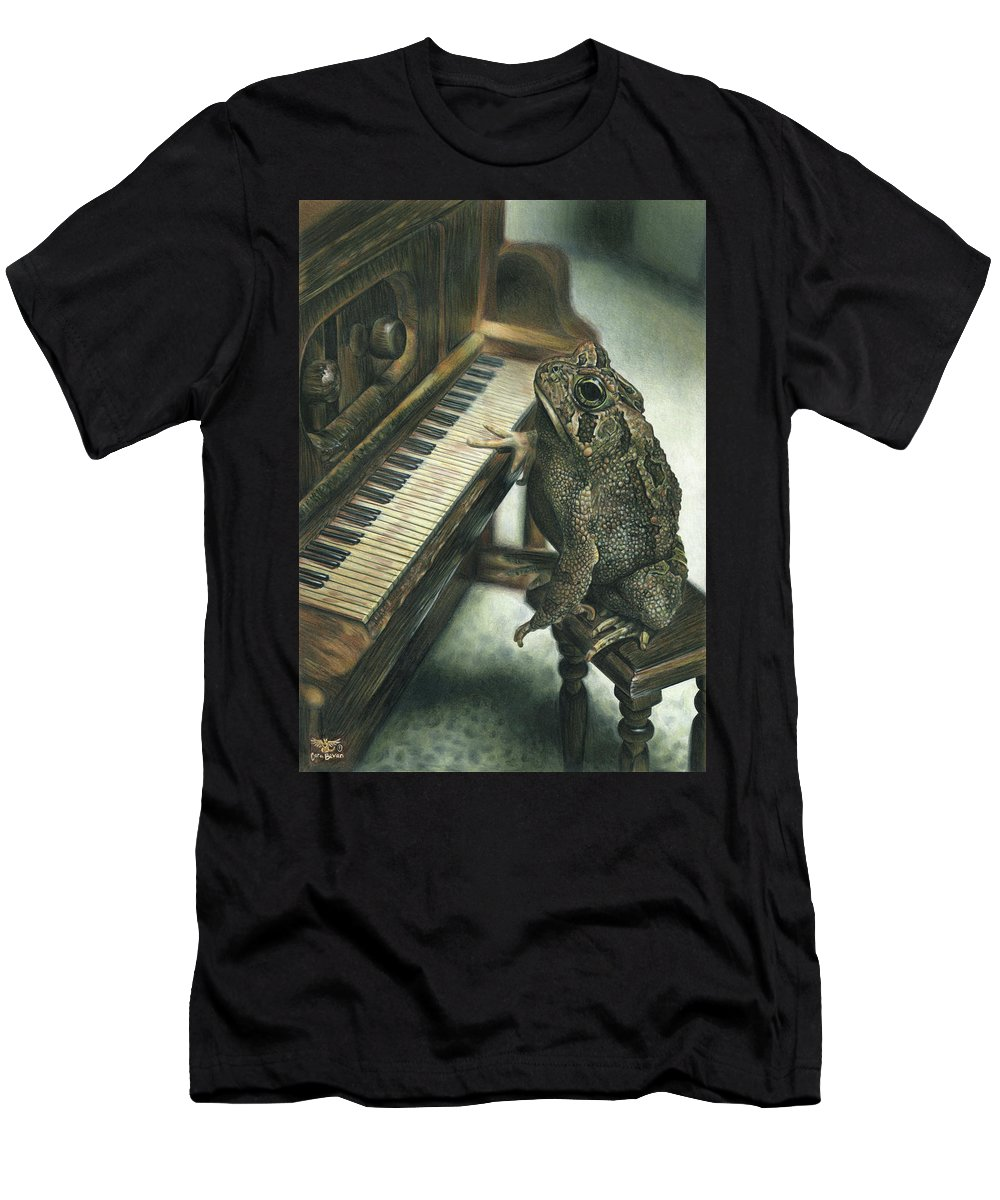 Heart Men's T-Shirt (Athletic Fit) featuring the drawing Heart Of The Symphony by Cara Bevan