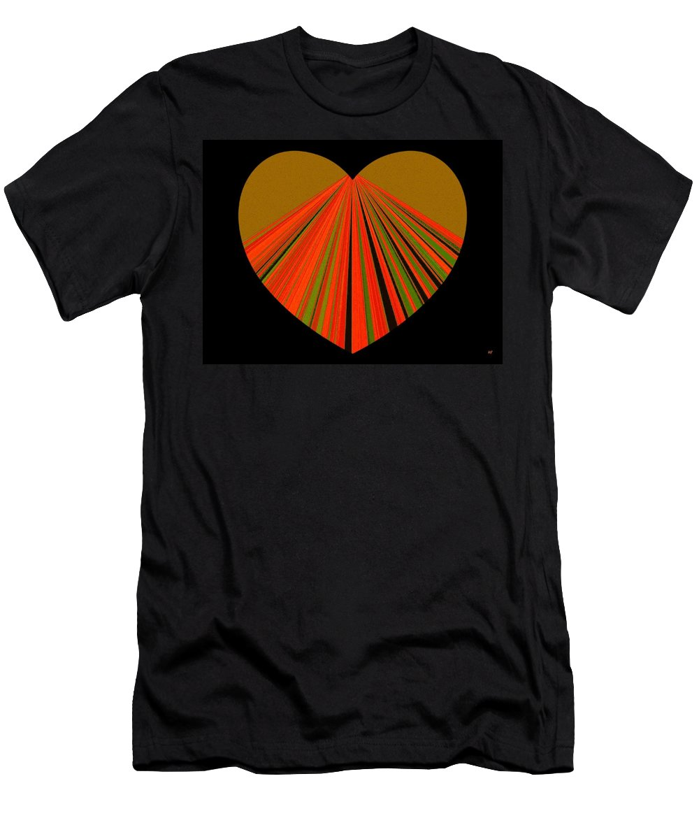 Heart Men's T-Shirt (Athletic Fit) featuring the digital art Heartline 5 by Will Borden