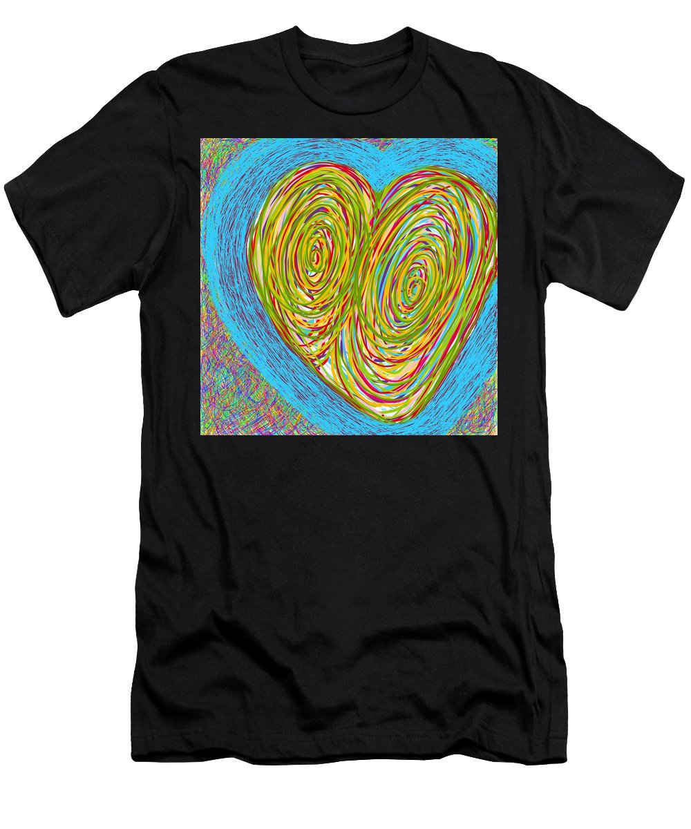 Abstract Men's T-Shirt (Athletic Fit) featuring the photograph Hearts As One by Charles Brown