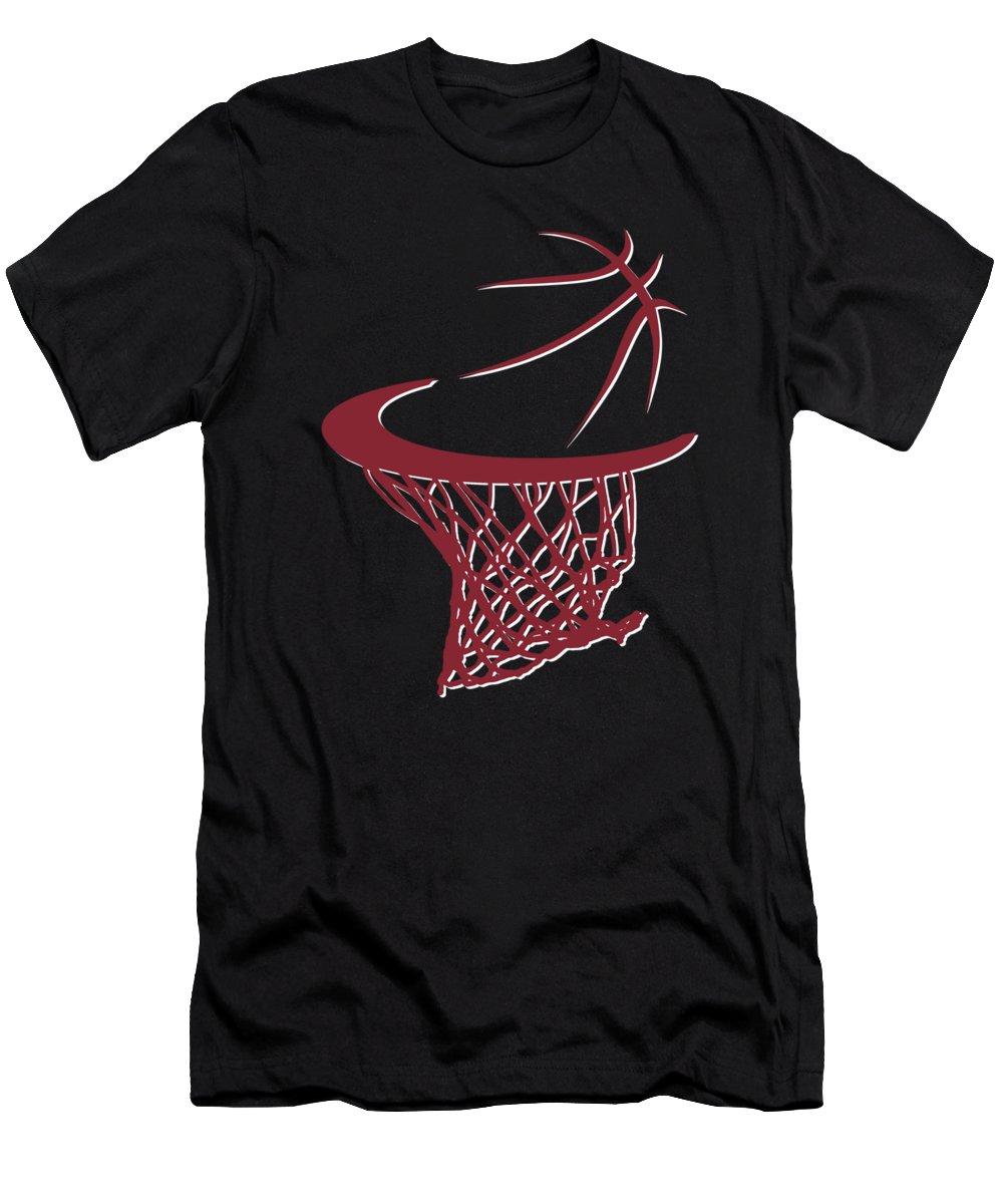 Heat Men's T-Shirt (Athletic Fit) featuring the photograph Heat Basketball Hoop by Joe Hamilton