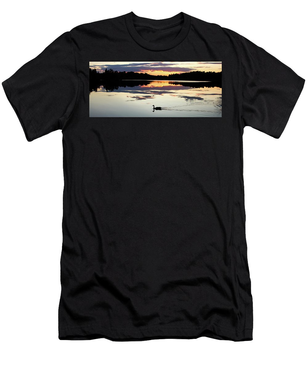Lake Men's T-Shirt (Athletic Fit) featuring the photograph Heathers Lake by Dustin Huckfeldt