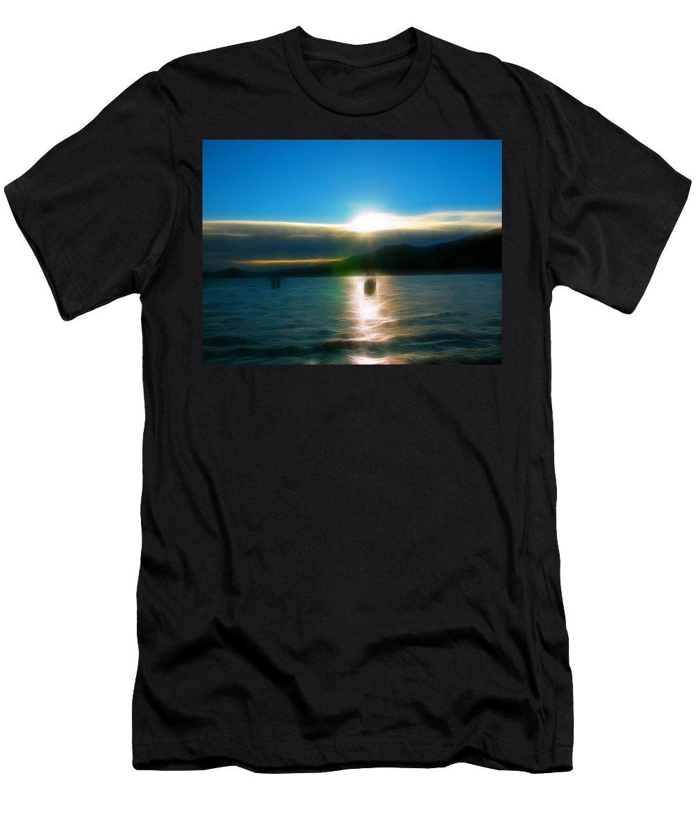 Lake Quinault Men's T-Shirt (Athletic Fit) featuring the photograph Heavenish by Tim Coleman