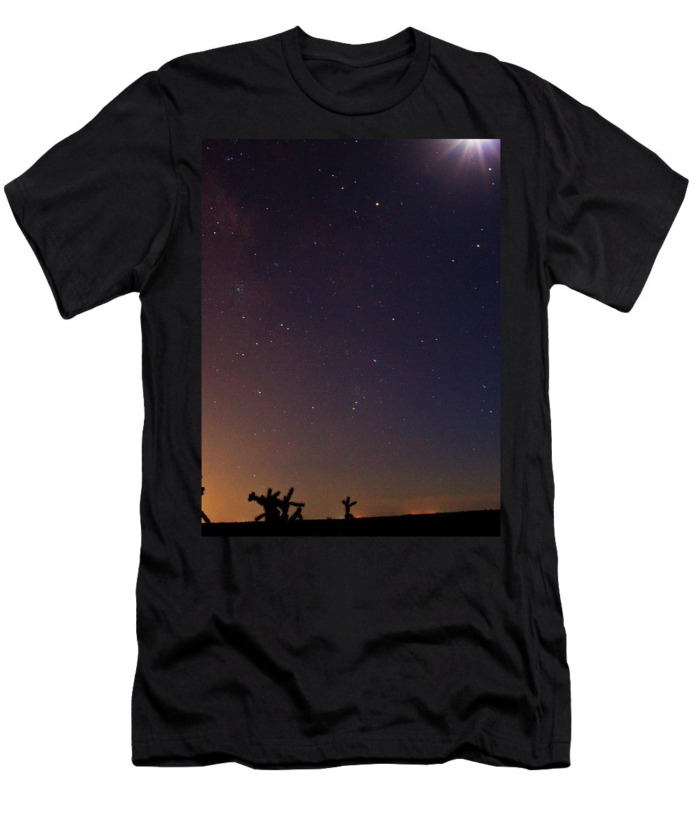 Men's T-Shirt (Athletic Fit) featuring the photograph Heavenly Skyline by Keith Peacock