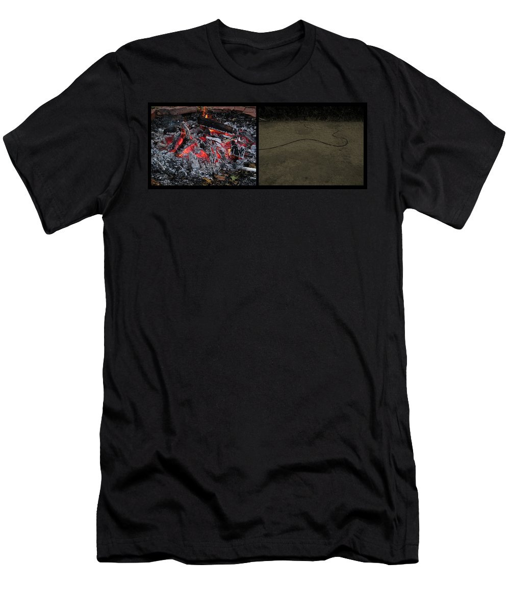Hell Men's T-Shirt (Athletic Fit) featuring the photograph Hell by James W Johnson