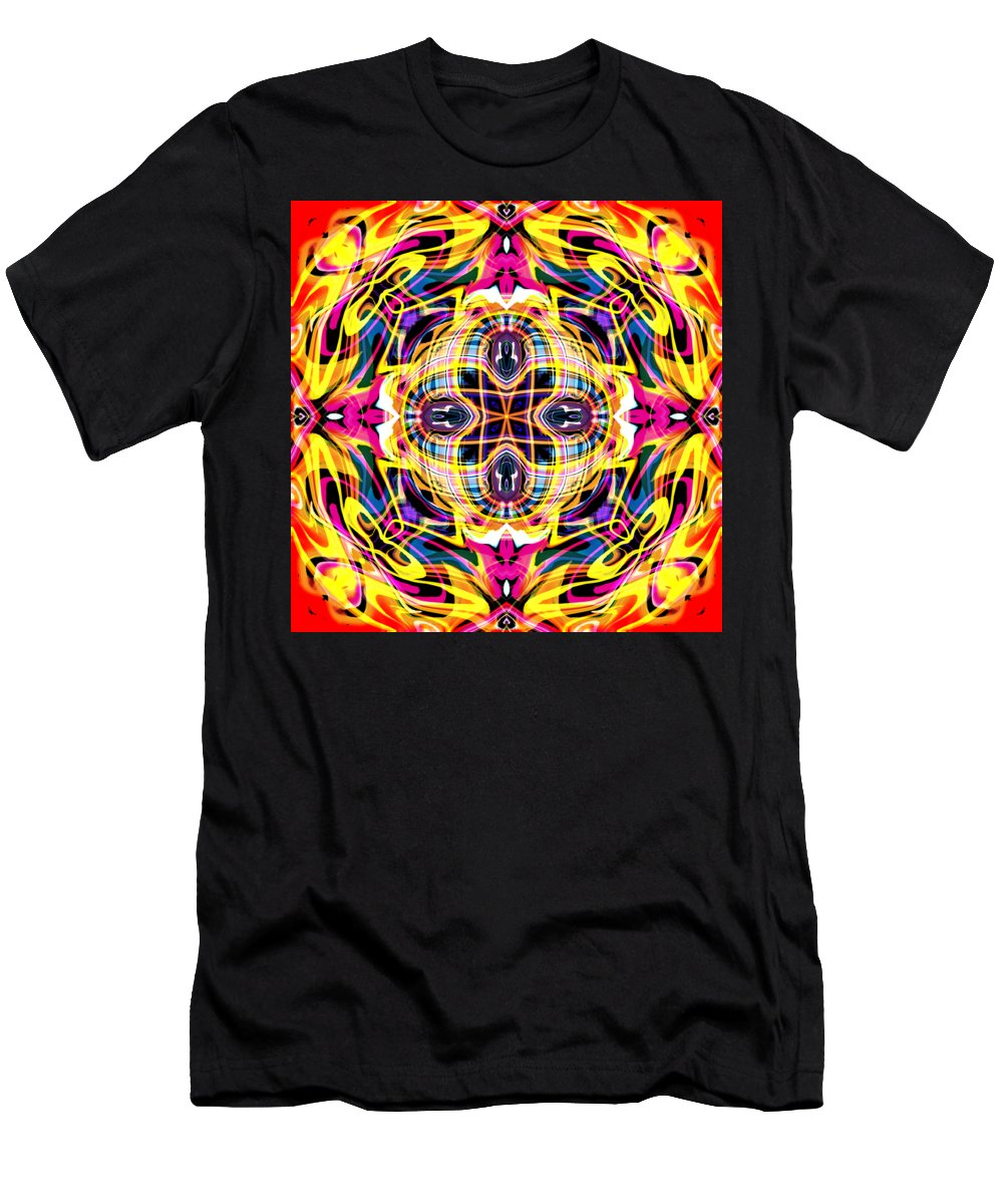 Hell Men's T-Shirt (Athletic Fit) featuring the digital art Hellflower by Blind Ape Art
