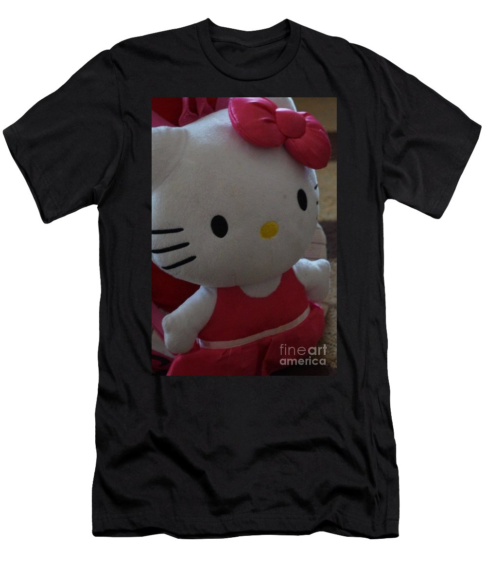 Hello Kitty Men's T-Shirt (Athletic Fit) featuring the photograph Hello Kitty Backpack by Maxine Billings