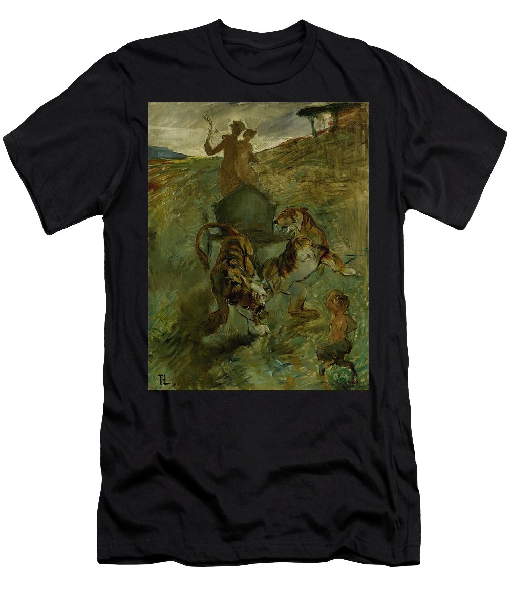 Men's T-Shirt (Athletic Fit) featuring the painting Henri From Toulouse-lautrec 1864 - 1901 Allegory, The Life Spring by Adam Asar