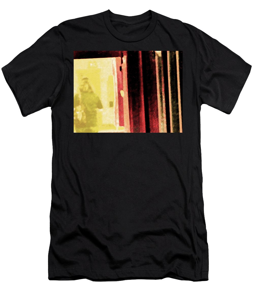 Abstract Men's T-Shirt (Athletic Fit) featuring the photograph Her First Baby by Lenore Senior