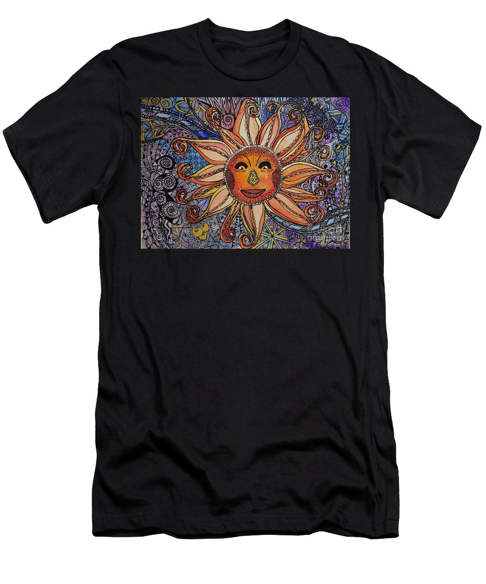 Original Men's T-Shirt (Athletic Fit) featuring the mixed media Here Comes The Sun by E Buchanan