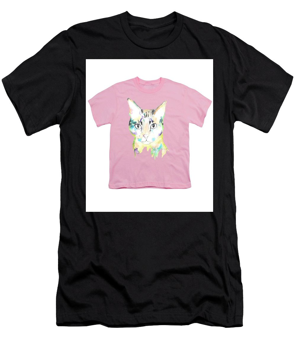Men's T-Shirt (Athletic Fit) featuring the painting Here Kitty by Herb Strobino