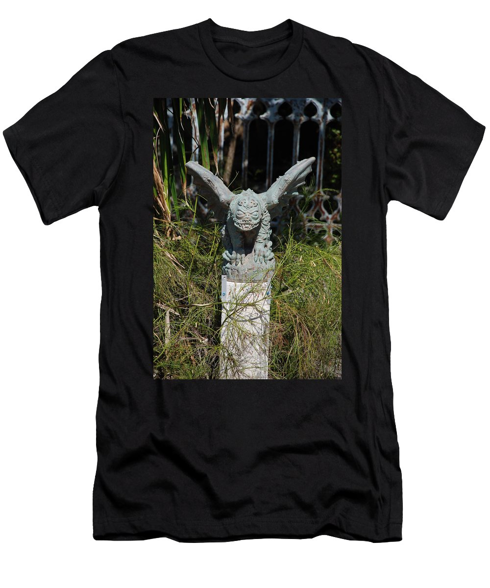 Gargoyle Men's T-Shirt (Athletic Fit) featuring the photograph Herman Gargoyle by Rob Hans