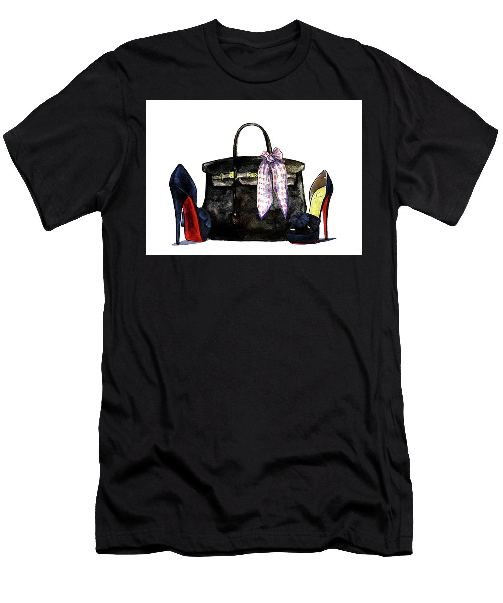 f6bd483db5eb Hermes Men s T-Shirt (Athletic Fit) featuring the painting Hermes Bag With  Shoes