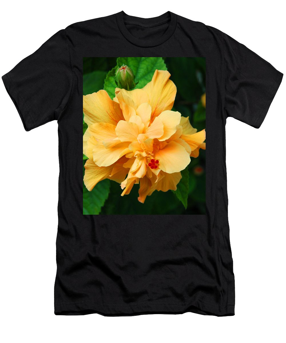 Hibiscus Men's T-Shirt (Athletic Fit) featuring the photograph Hibiscus by Susanne Van Hulst