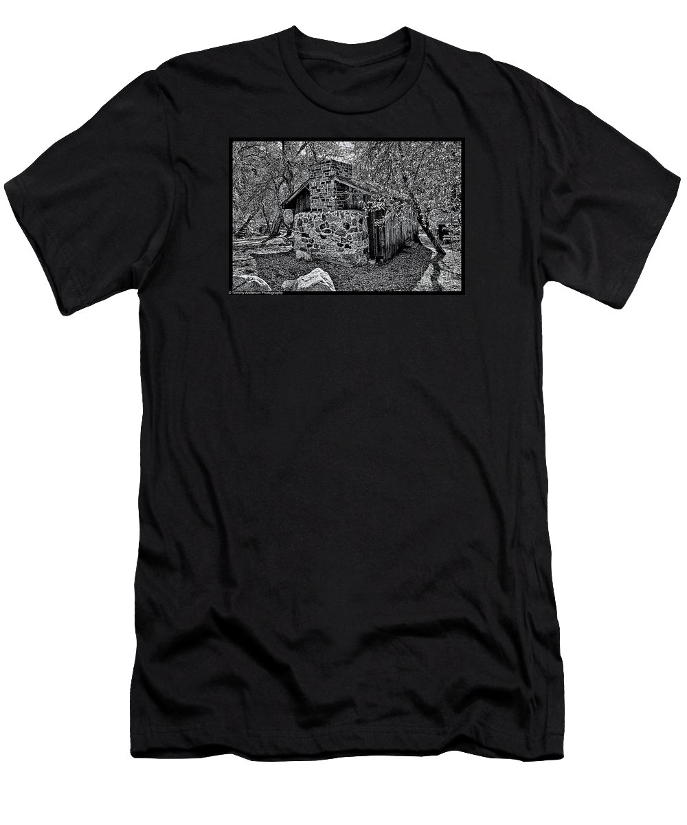 California Men's T-Shirt (Athletic Fit) featuring the photograph Hidden Cabin by Tommy Anderson