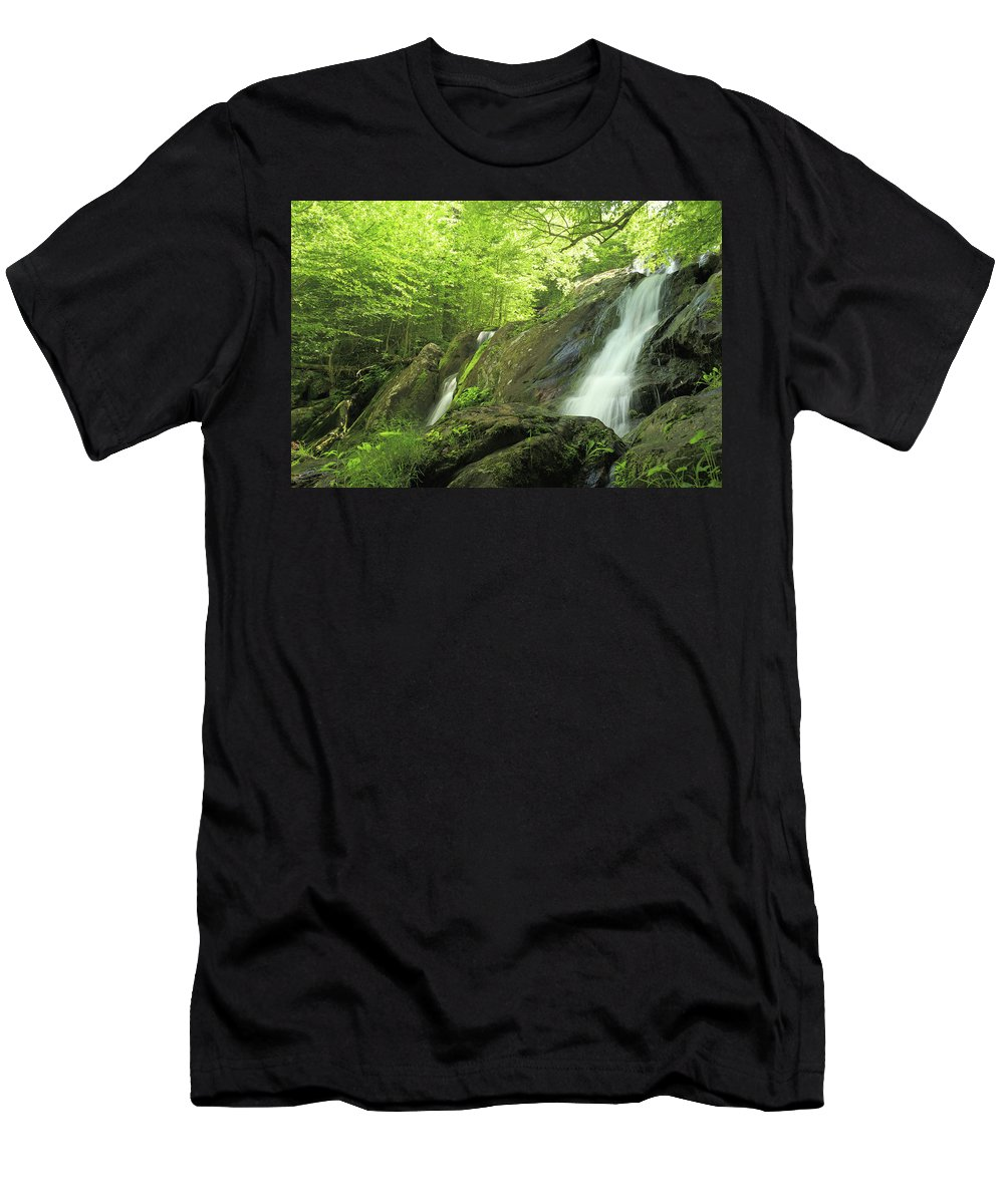 National Men's T-Shirt (Athletic Fit) featuring the photograph Hidden Falls - Shenandoah National Park. by Constantine Vloutely