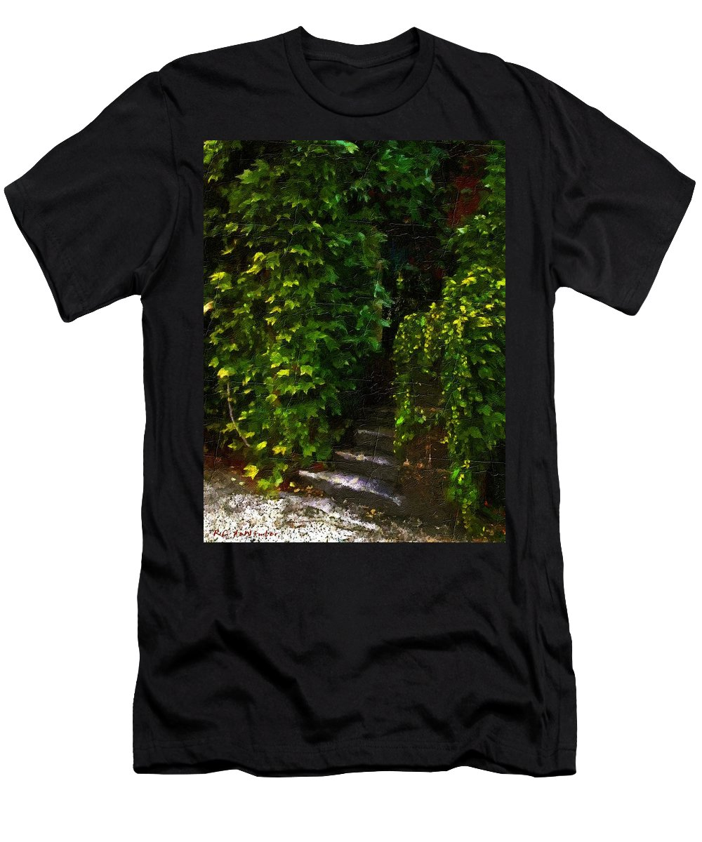 Cottage Men's T-Shirt (Athletic Fit) featuring the painting Hidden Hermitage by RC DeWinter