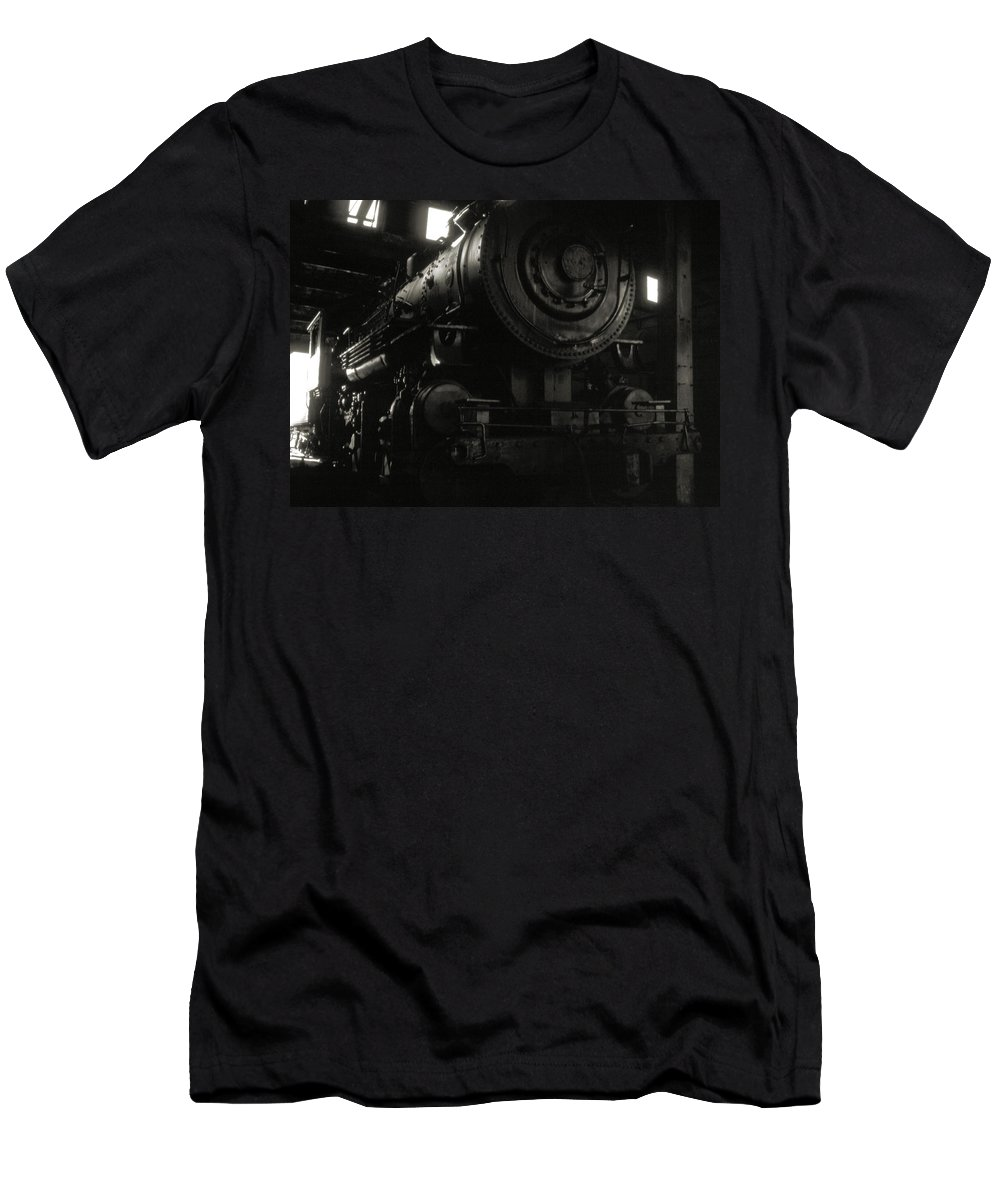 Railroads Men's T-Shirt (Athletic Fit) featuring the photograph Hidden Legend by Richard Rizzo