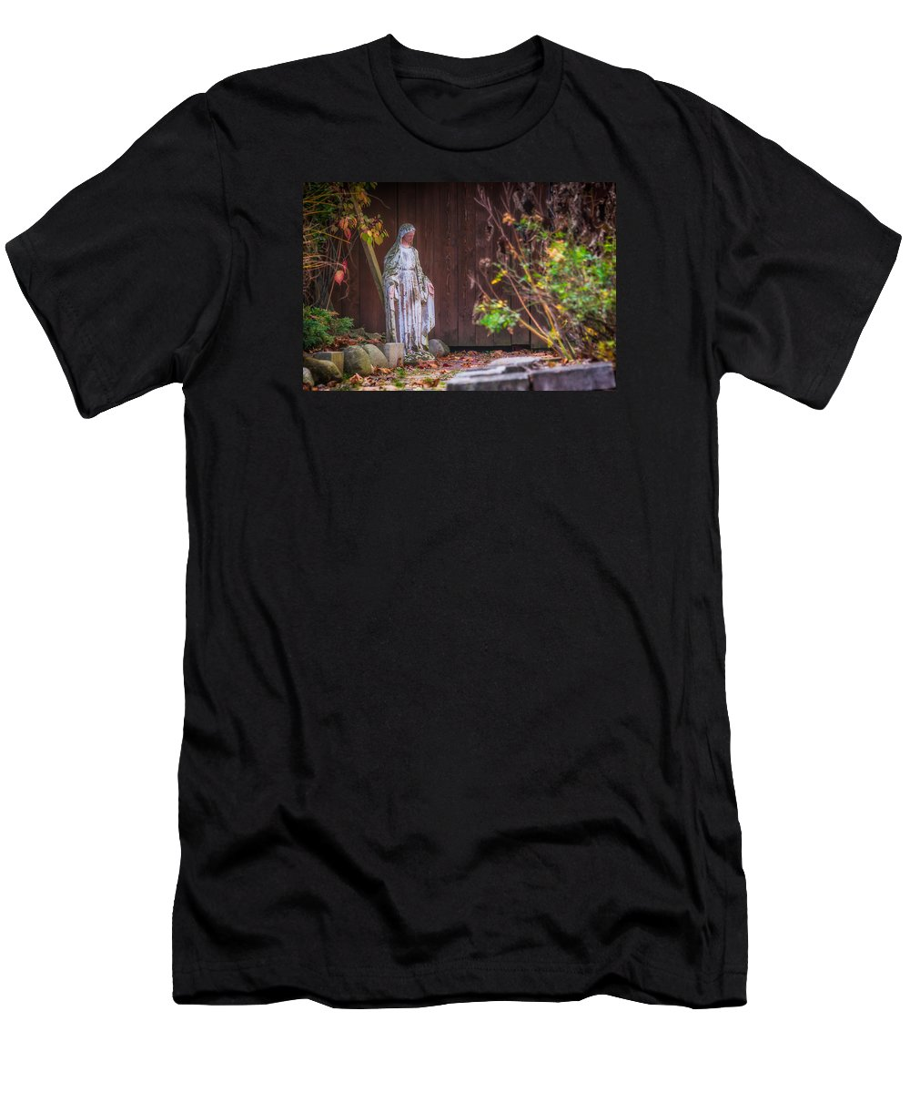 Madonna Men's T-Shirt (Athletic Fit) featuring the photograph Hidden Madonna by Trent Garverick